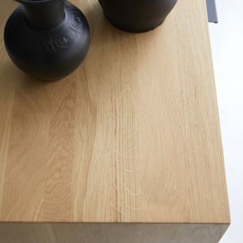 Bahut en chêne massif Senson 110 cm
