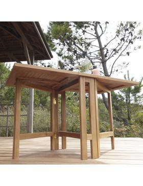 Salon de jardin pliant en teck massif Capri 4 chaises