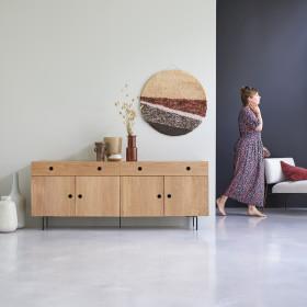 Buffet en chêne massif Jeanne 185 cm