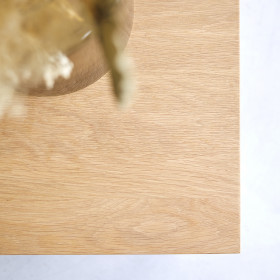 Table basse carrée en chêne massif Anoa
