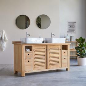Meuble Salle de bain en teck 145 Coline