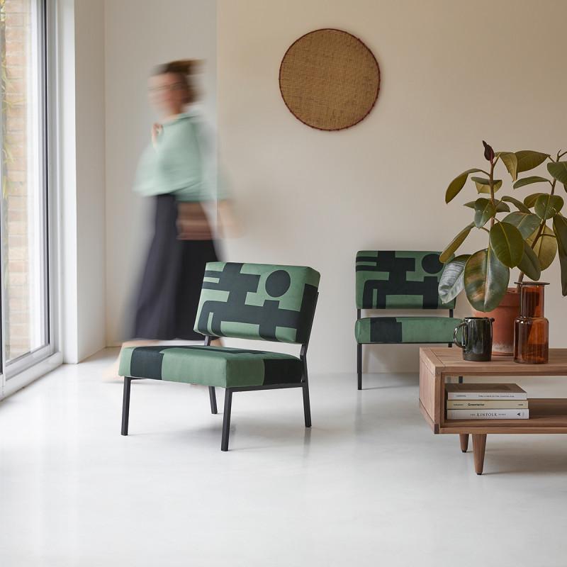 Fauteuil français Barbican vert
