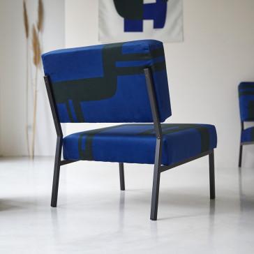 Fauteuil français Barbican bleu