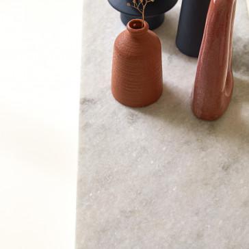 Console en métal et marbre Jana