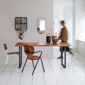 Table en acacia massif et métal Temis 4/6 pers