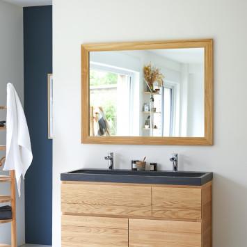 Miroir en teck Tona 120x90 cm
