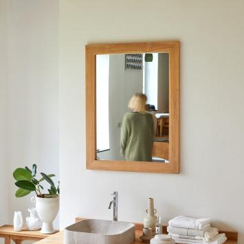 Miroir en teck Tona 90x70 cm