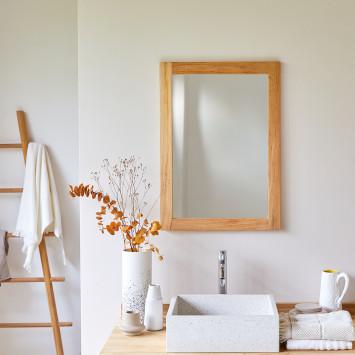 Miroir en Teck Bahya 70x50 cm