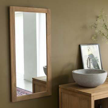 Miroir en Teck Bahya 100x50 cm