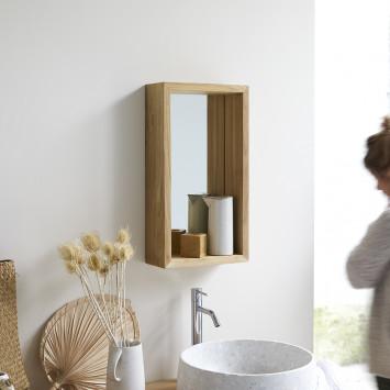 Miroir en teck Stelle 55x30 cm