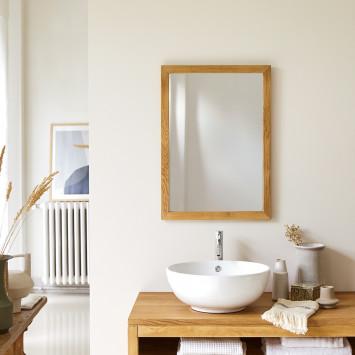 Miroir en chêne Serena 70x50 cm