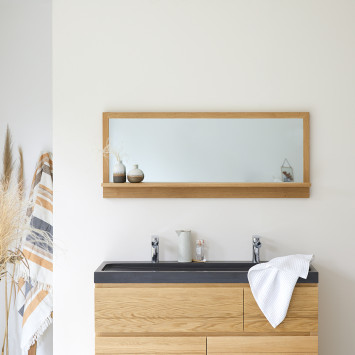 Miroir en chêne Easy 120x50 cm