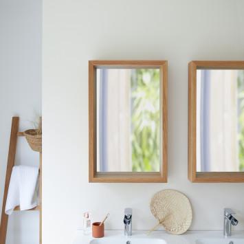 Miroir en chêne Easy 70x45 cm