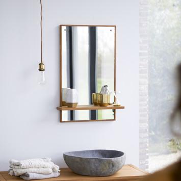 Miroir en teck Galyno 75x45 cm
