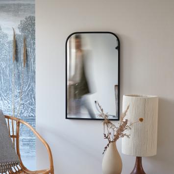 Miroir déco en métal Nordic 80x50 cm