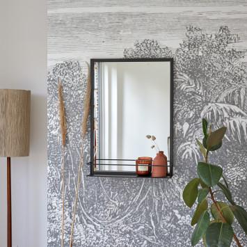 Miroir déco en métal Lison 70x50 cm