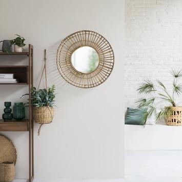 Miroir en bambou Dana 75 cm