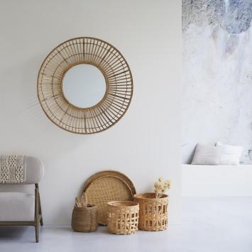 Miroir en bambou Marta 100 cm