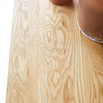 Console 1 tiroir en chêne massif Clovis