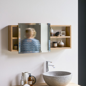 Armoire de toilette en teck massif Typo