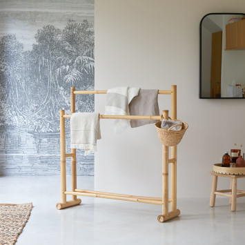 Porte serviette en bambou Balyss