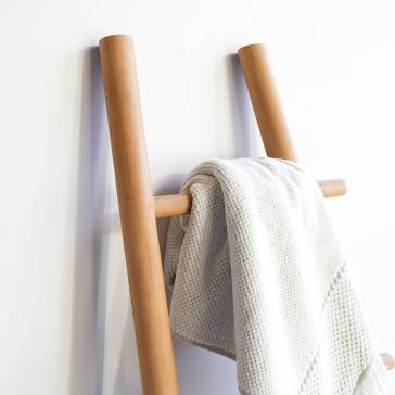 Porte serviette en teck massif Carla