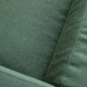 Canapé Cobbelwood en chêne massif et tissu Dark green