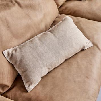 Canapé Woodnest en chêne massif et cuir Cheyenne 3 places