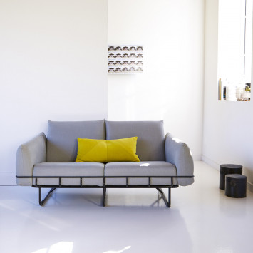 Canapé en tissu Jonas gris