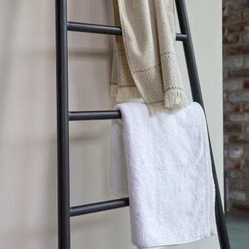 Porte serviette en métal avec miroir Elio