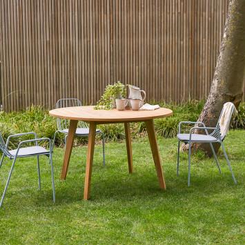 Table de jardin en teck massif Mila 6 pers