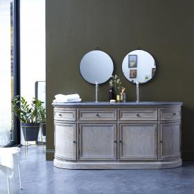 Meuble salle de bain en chêne et pierre Louise 180 cm