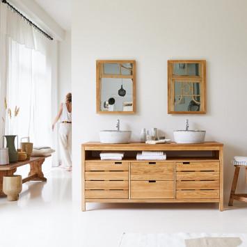 Meuble sous vasque en chêne massif Serena 165 cm