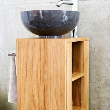Meuble sous vasque en teck massif Stelle gauche