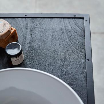 Meuble sous vasque en manguier massif et métal Arsène 90 cm