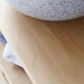 Meuble sous vasque en teck massif Kwarto 110 cm