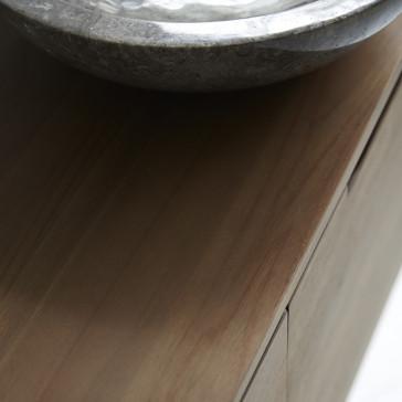 Meuble sous vasque en teck massif Romeo 120 cm