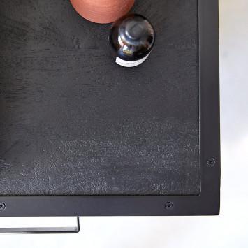 Meuble sous vasque en manguier et métal Romy 95 cm