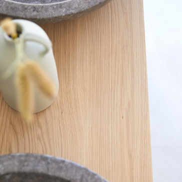 Meuble sous vasque en chêne massif Soho 125 cm
