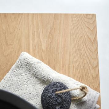 Meuble sous vasque en chêne massif Kwarto 110 cm