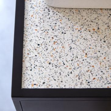 Meuble sous vasque en terrazzo et métal Lizzie 140 cm