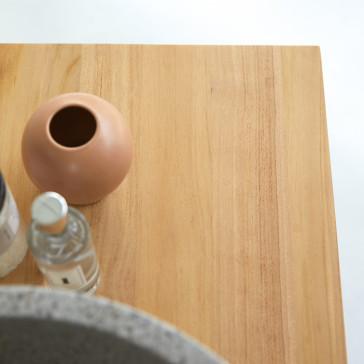 Meuble sous vasque en teck massif Jill 80 cm