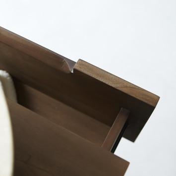 Meuble sous vasque en teck massif Romeo 60 cm