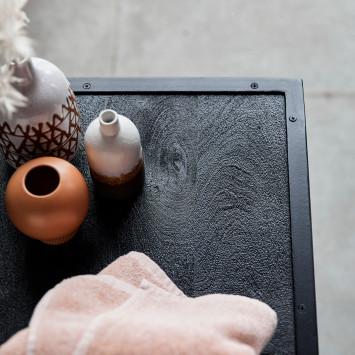Meuble sous vasque en manguier massif et métal Arsène 140 cm