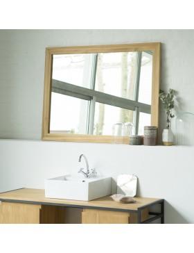 Miroir Teck Tona brut 120x90