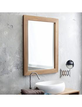 Miroir Teck Tona brut 90x70