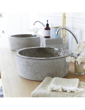 Vasque en marbre Exo Stri Grey
