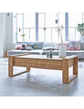 Table basse en teck 120x70 Minimalys