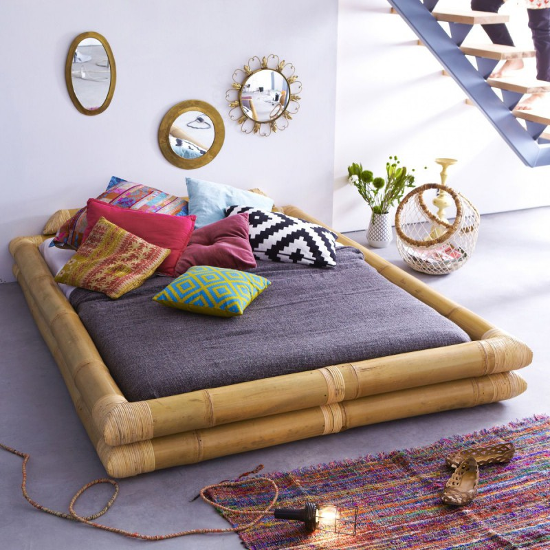 Lit futon en bambou 160x200 Balyss