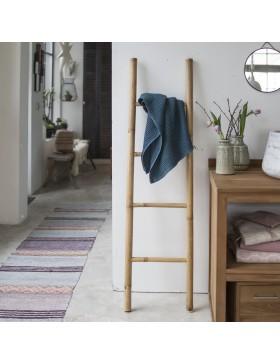 Echelle porte serviette en bambou naturel